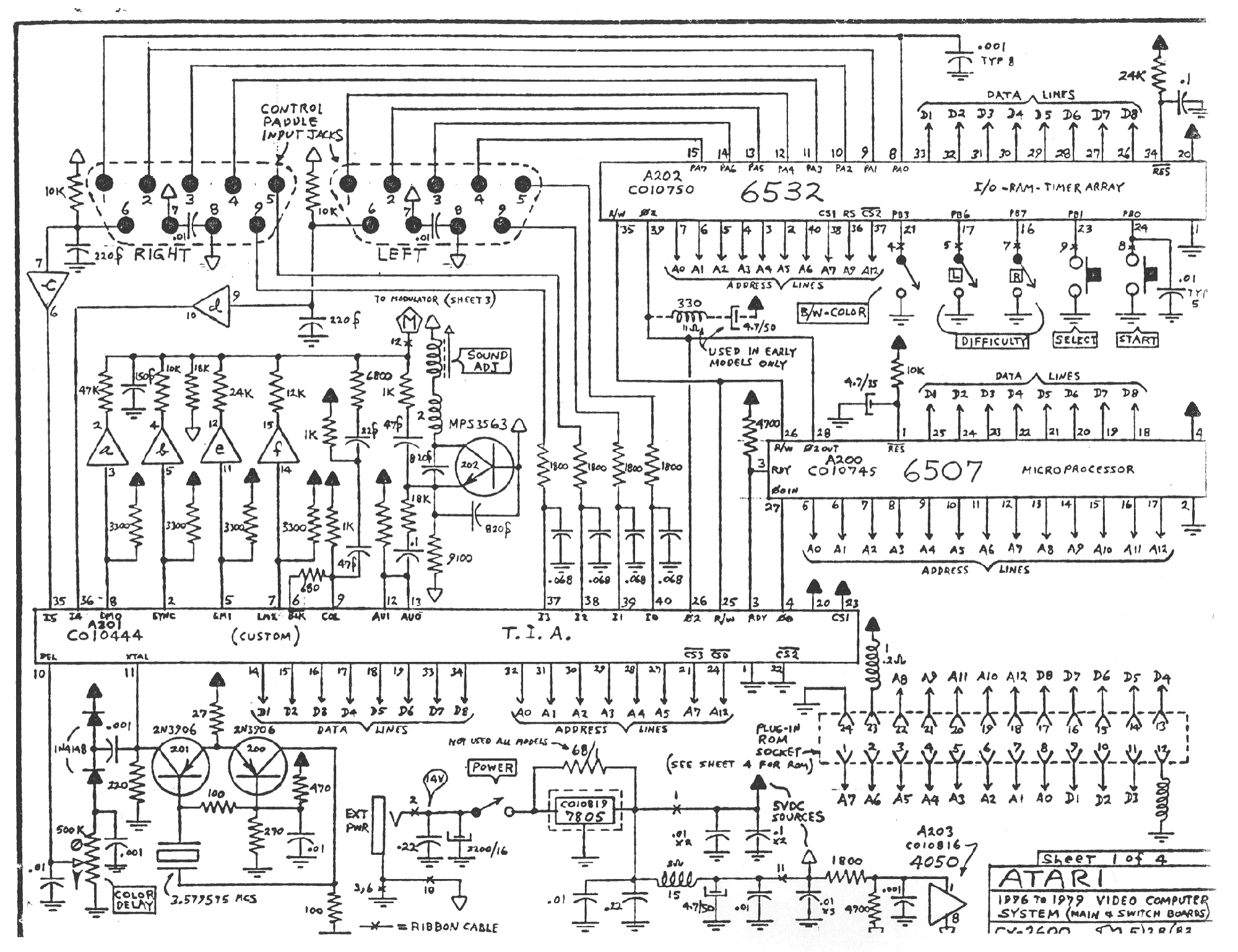 Atari Cx2600 Schematic