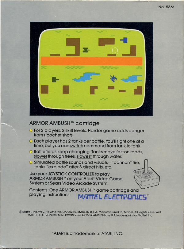 Armor Ambush - Box Back