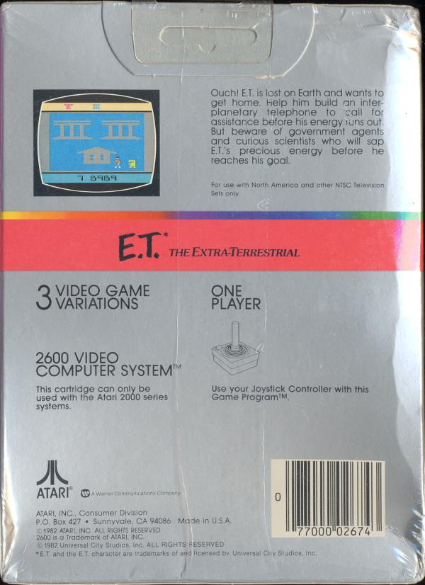 E.T. The Extra-Terrestrial - Box Back