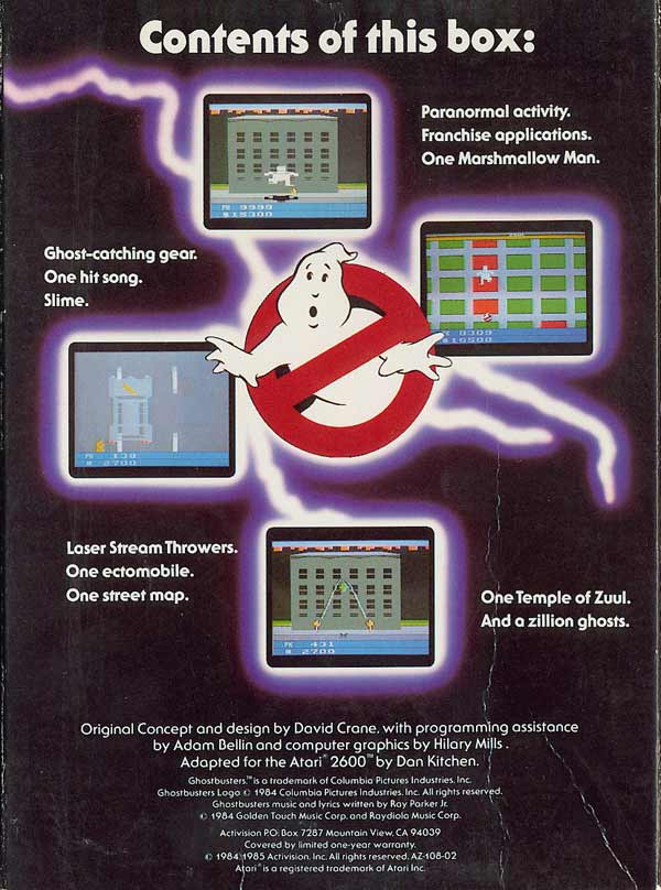 Ghostbusters - Box Back