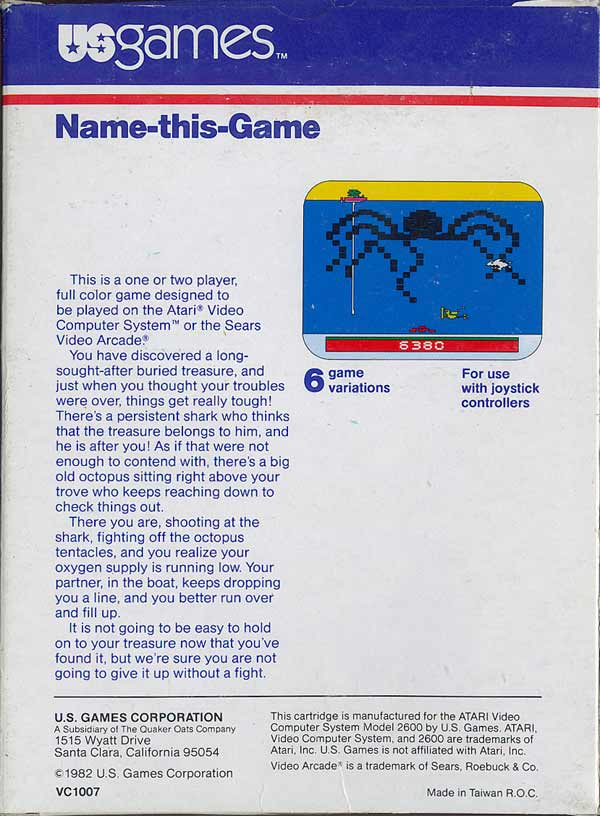 Name This Game - Box Back