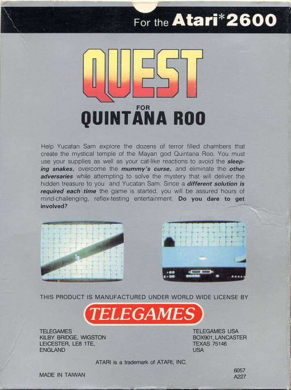 Quest for Quintana Roo - Box Back