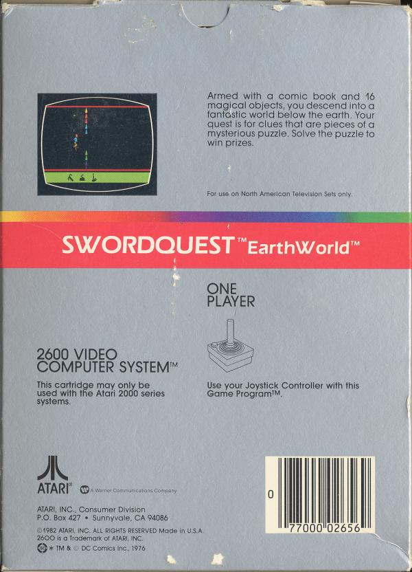 Swordquest: Earthworld - Box Back
