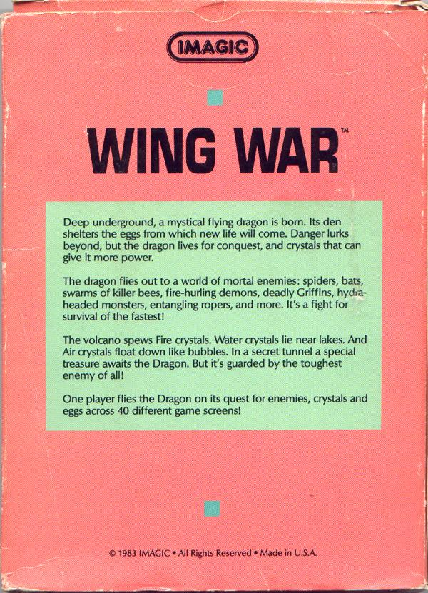 Wing War - Box Back
