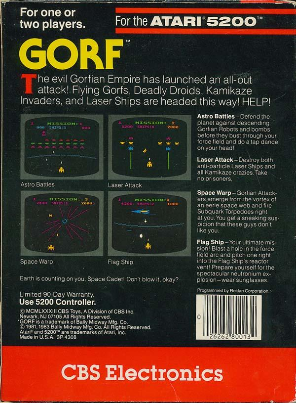 Gorf - Box Back