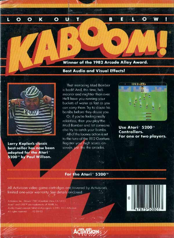 Kaboom! - Box Back