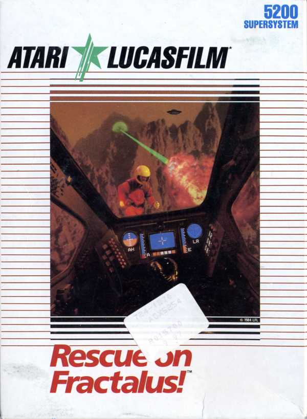 Rescue on Fractalus - Box Front