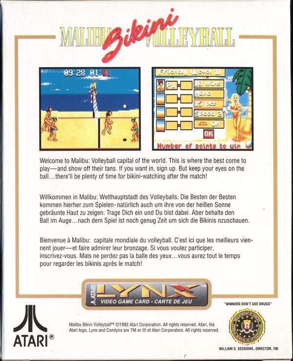 Malibu Bikini Volleyball - Box Back