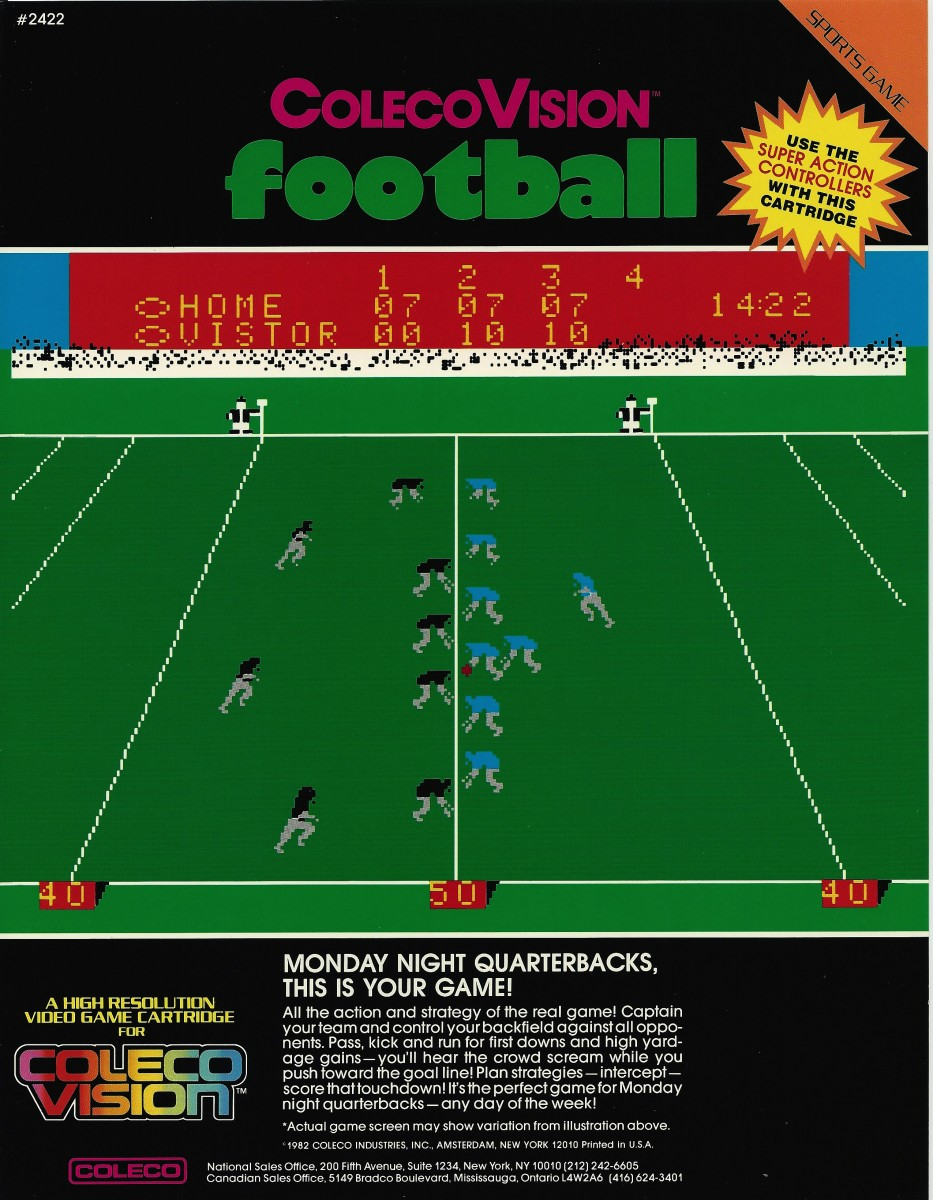 Football - ColecoVision Press Kit - Gallery - AtariAge Forums