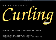 RealSports Curling title screen