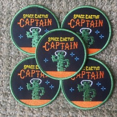 Space Cactus patches
