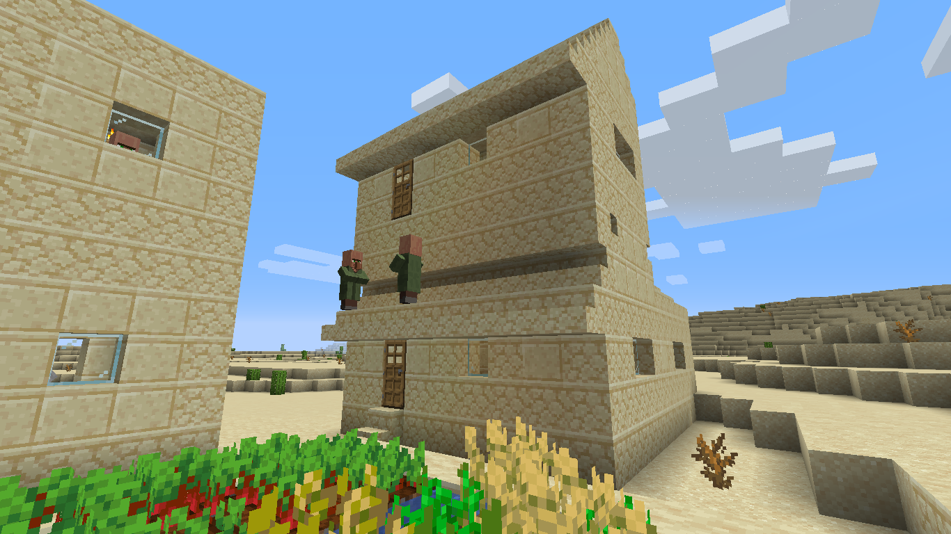Villagers now start building appartments