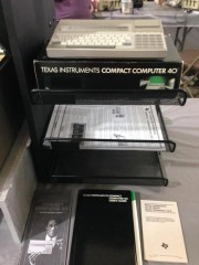 Experience the Texas Instruments TI-99/4a: TI CC-40 Compact Computer side display