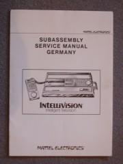 German Intellivision Master Component service manual
