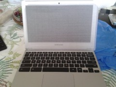 The Chromebook, opened